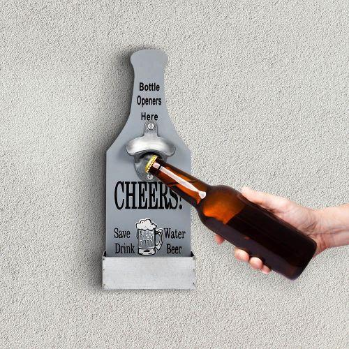 Creative Bar Home Wall Decoration Wooden Beer Bottle Opener