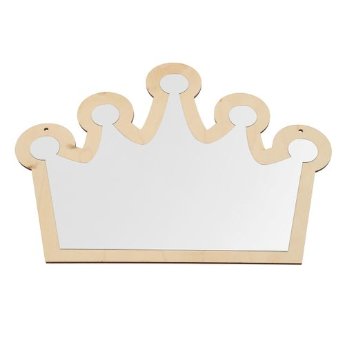 Wooden Acrylic Wall Decor Cute Mirror For Baby Kids Bedroom Hanging Decoration