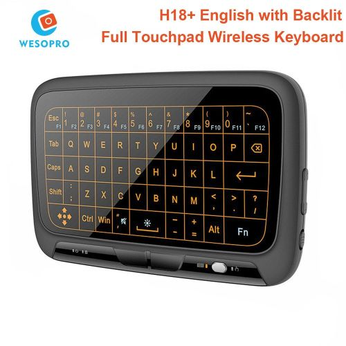 H18 Plus 2.4GHz Mini Keyboard With Full Touch-pad Air Mouse For Windows PC Android TV Box Smart TV Projector Linux Mac ASQOB