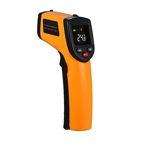Non-Contact Handheld Digital Thermometer Laser LCD Display IR Infrared Surface Temperature Tester 12:1 Thermometer Pyrometer -50~400℃(-58~752℉)