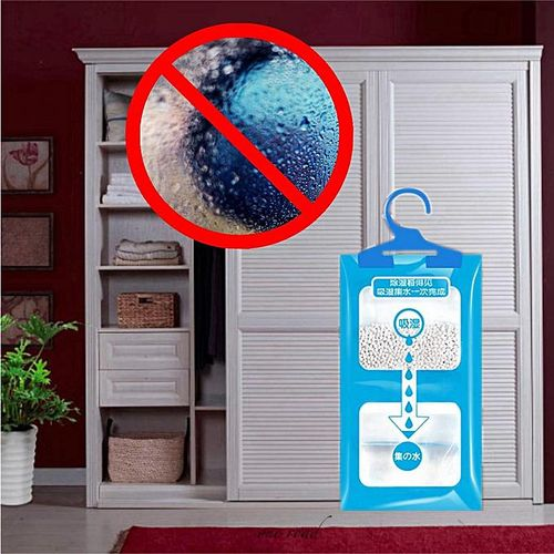Hanging Dehumidifier Bags Wardrobe Damp Mildew Absorb Moisture Dryer Desiccant
