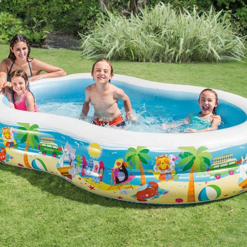 Center Inflatable Paradise Seaside Kids Swimming Pool