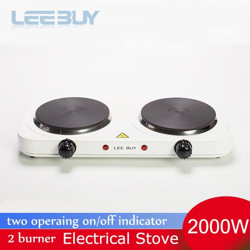 2 Burner Kitchen Electric Stove Hot Cooking Heater Plate