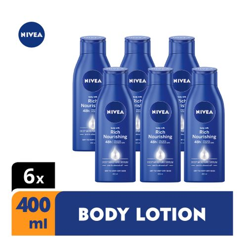 Rich Nourishing Body Lotion For Women- 400ml (Pack Of 6)