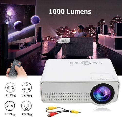 LED Mini Portable Projector Home Cinema Theater Mini Projector Media Player EU Plug