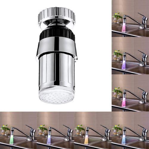 Sink 7Color Change Water Glow Shower LED Faucet Light