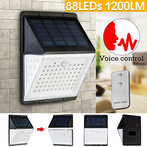 88LED Solar Power PIR Motion Sensor Wall Mount Lights Garden Yard Garden Lamp