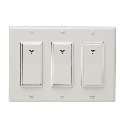 Type 1/2/3 Gang AC 100-240V Smart WIFI LED Light Switch Wall Panel Mobile APP Remote Control For Alexa