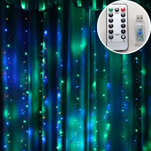 Curtain Led Lights 3x3m Wedding Christmas Multicolored Parties