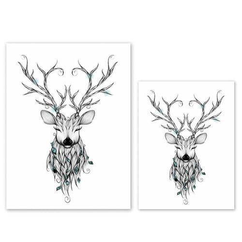 Deer Pattern Modern Wall Art Painting Printed Picture Home Office Decoration Delicate Printed Nice Decor