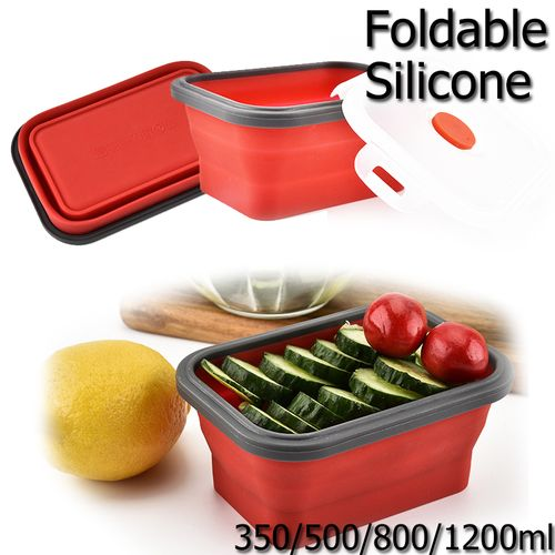 Silicone Bowl Boxes Folding Food Storage Container Lunchbox