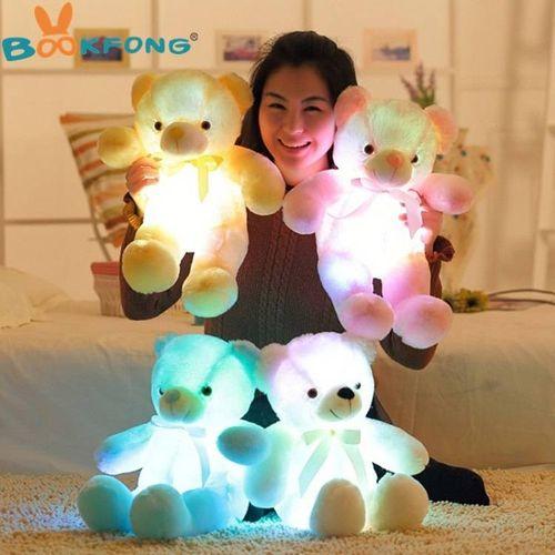 30cm Light Up LED Teddy Bear Stuffed Animals Plush Toy