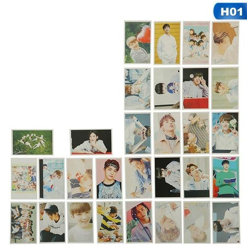 Benhongszy 30 Pcs/Set KPOP SEVENTEEN Album LOVE&LETTER Self Made Paper Lomo Card Photo Card Poster HD Photocard