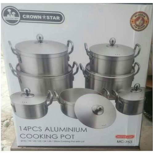Crown Star 14 Pcs Cooking Pot