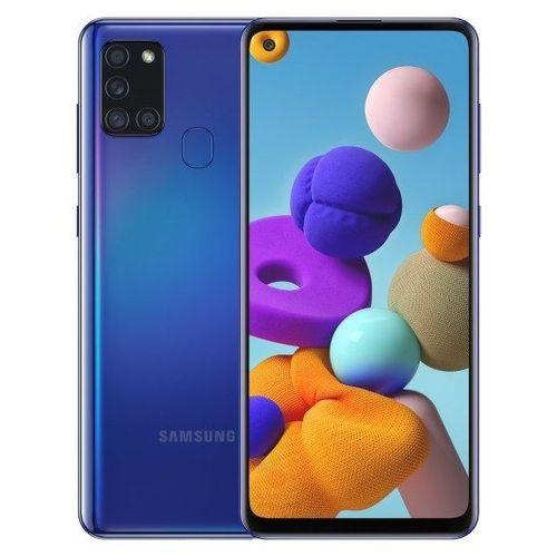 "Galaxy A21s 6.5"" 48MP Camera, 4/128GB Memory, 5000maH Battery, Fingerprint, 4G LTE - Blue"