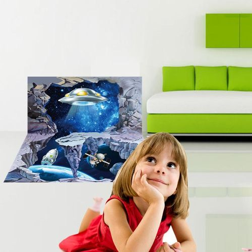 Miico 3D Creative PVC Wall Stickers Home Decor Mural Art Removable Alien Planet Wall Decals
