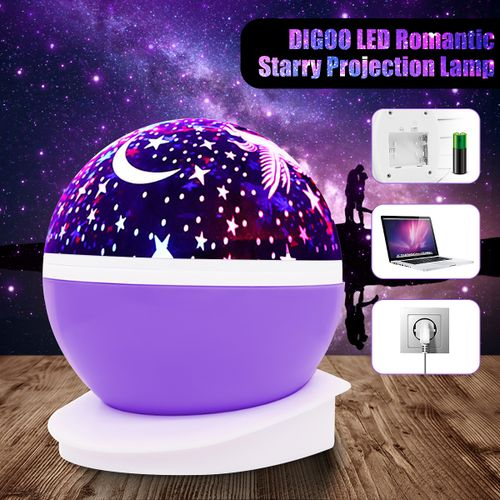LED Star Projector Baby Night Light Nursery Children Room Lighting Lamp