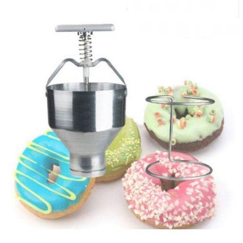 465OZ Manual Donut Depositor Dropper Plunger Dough Batter Dispenser Hopper Maker