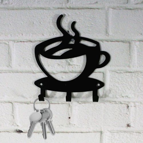 10 Pcs Home Decorative Coffee Wall Mount Metal 3 Hook Key Rack Hanger Organizer Decor