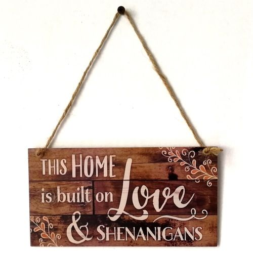 Merry Christmas Sign Wooden Door Wall Hanging Ornaments Board Holidays JM00575 Coffee