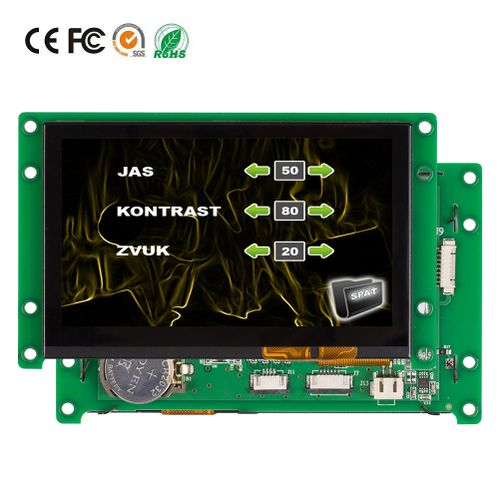 """RS232 RS485 TTL Port 4.3"""" HMI Touch Screen Display"""