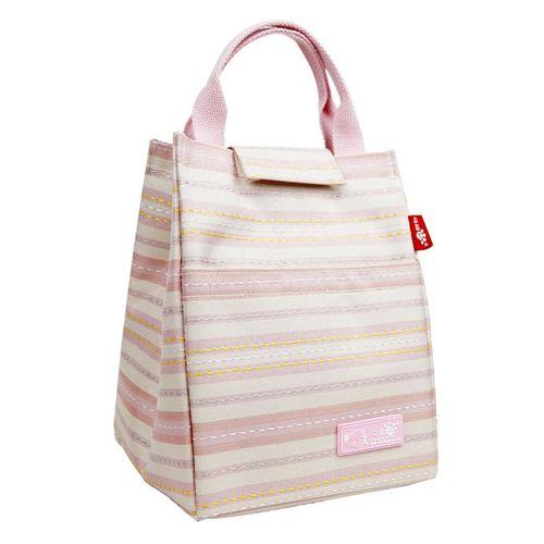 KCASA KC-CB02 Oxford Large Capacity Lunch Tote Bag Travel Picnic Fashion Stripe Bento Food Organizer