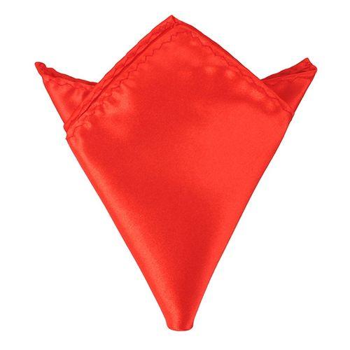 Men Wedding Party Pure Plain Color Square Suit Pocket Satin Handkerchief Hanky Red