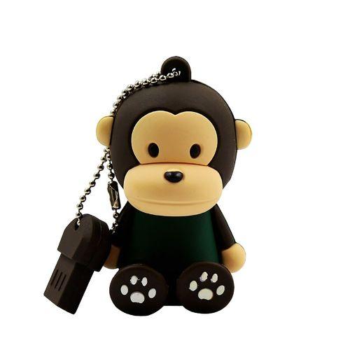 Sitting Monkey USB Flash Drive Plastic Waterproof Storage Device Black