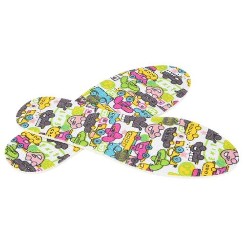 Children Soft Latex Car Pattern Insole Shoe Cushions Pad Breathable Massage Insoles
