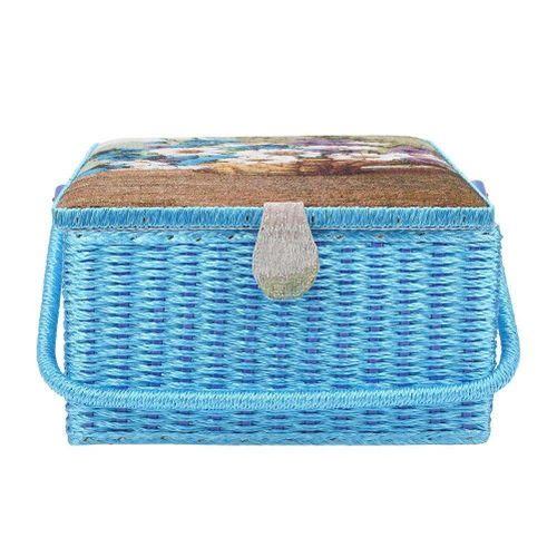 European Style Home Sewing Tool Storage Basket Needlework Box Container Sundries Organizer