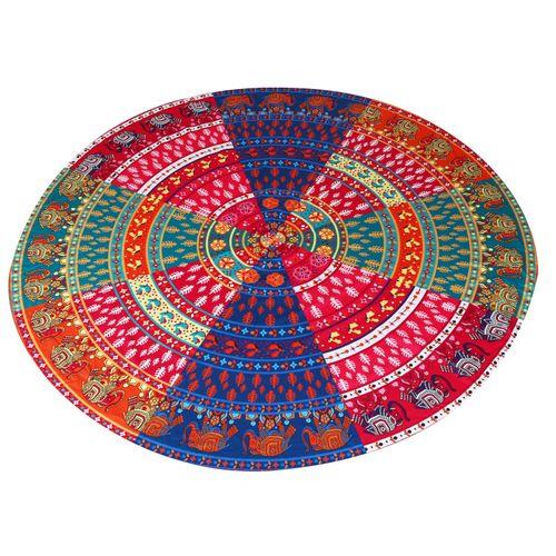 Generic Round Hippie Tapestry Beach Throw Roundie Mandala Towel Yoga Mat Bohemian Featur