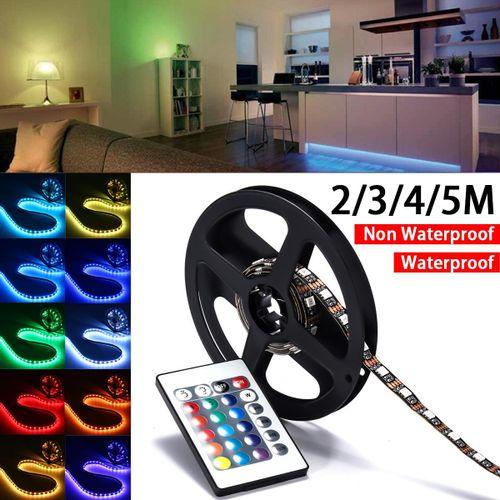 5V 5050 30SMD 0.5M RGB LED Strip Light Bar TV Back Lighting Kit+USB Remote Control