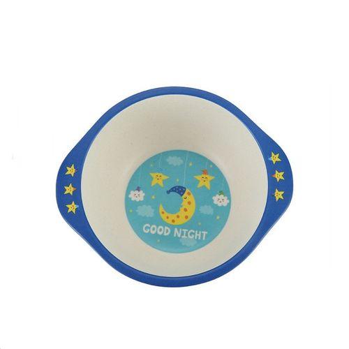 Bamboo Fiber Cartoon Round Bowl For Child Baby Healthy Environmental Bowl Kids Dinnerware Cartoon Tableware