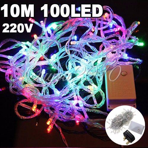 10M 100 LED Fairy String Light Xmas Christmas Wedding Party Decor Warm White
