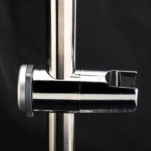 Chrome Shower Head Holder Kit Adjustable Riser Slide Rail Bar