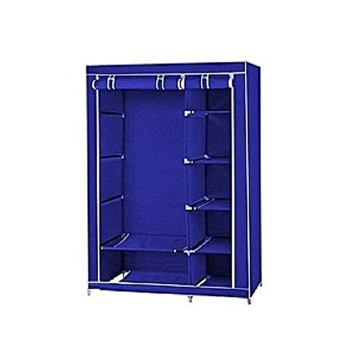 Moveable Wardrope Closet With Wheels & Cloth Hanger