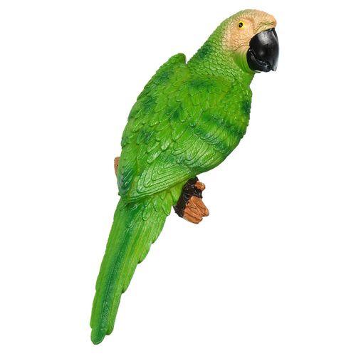 Resin Lifelike Bird Ornament Statue Parrot Model Figurine Home Lawn Sculpture