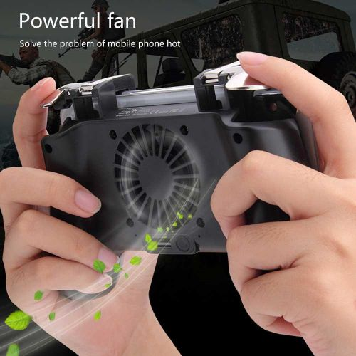 Mobile Game Controller For PUBG 4-in-1 Upgrade Version Gamepad Aim Trigger Phone Cooling Pad For Android & IOS Fortnite XYx-S