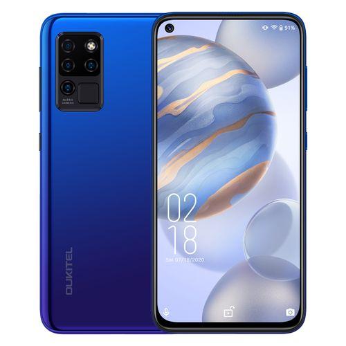 "C21 4G 6.4"" FHD ( 64GB ROM 4GB RAM) 20MP AI Selfie 16MP Matrix Quad Camera Android 10 4000mAh Smartphone-BLUE"