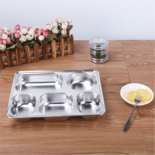 Eco Lunchbox Stainless Steel Divided Lunch Food Serving Bento Box Tray