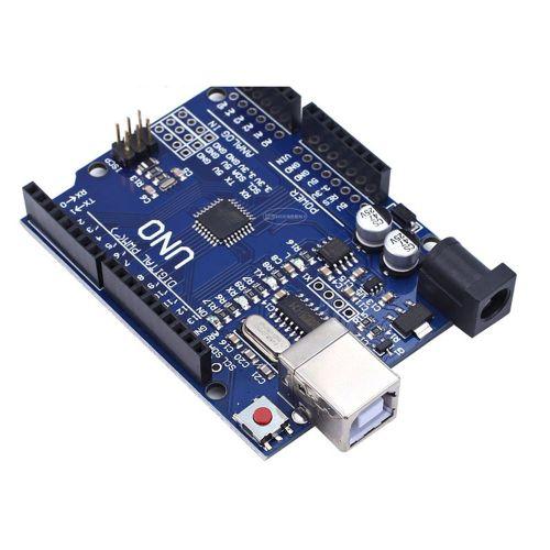 For UNO R3 (CH340G) MEGA328P Arduino ATMEGA328P Development Board Blue & Black