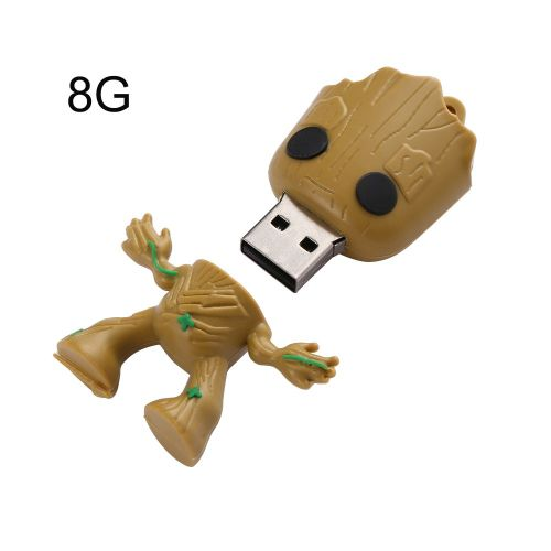 Usb2.0 Cartoon Alien Rubber U Disk 8gb/16gb/32gb/64gb/128gb/256gb Yellow