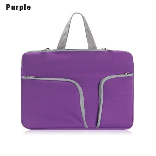 Fashion Design Laptop Bag Soft Handbag Notebook Sleeve Case Cover For HP Lenovo Acer Dell MacBook Air Pro 11 13 14 15 17(Purple)