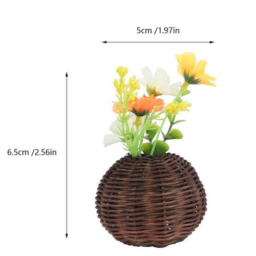 3D Fridge Magnets Decorations Natural Rattan Simulation Factory Magnet Fridge Emovable DIY Home Decor Fridge Wall Sticker