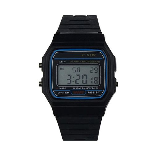 Fashion Unisex F91W Sports Alarm Stopwatch Wrist With LCD Digital Sports Watch-Array