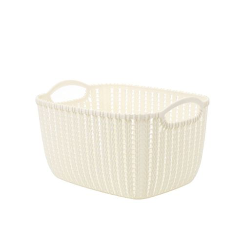 Plastic Rattan Basket For Home Durable Multi-functional Beig