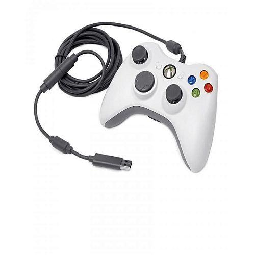 Wired Dualshock Xbox 360 Game Pad- White