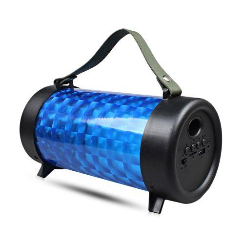 M22 Wireless Bluetooth Stereo Speaker RGB Lamp Portable Player-BLUE
