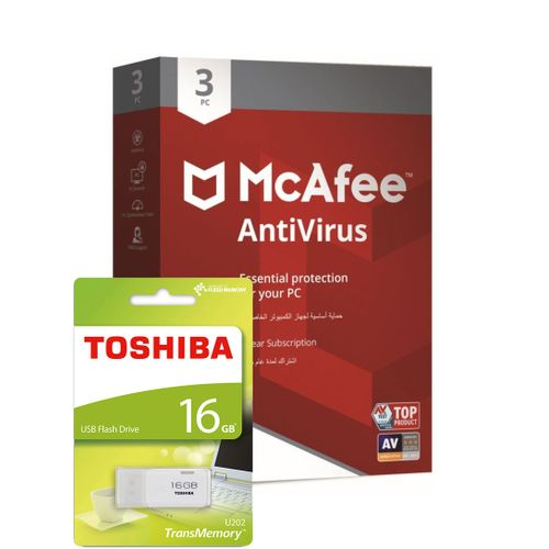 AntiVirus 3 PCs & Toshiba USB Flash Drive 16GB