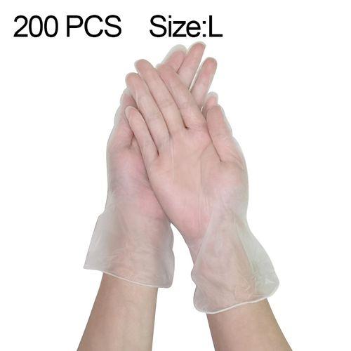 200 PCS PVC Powder-Free Insulation Waterproof Mittens Size: L